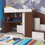 кровать чердак с рабочим столом идеи дизайна