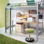 кровать чердак с рабочим столом фото декора