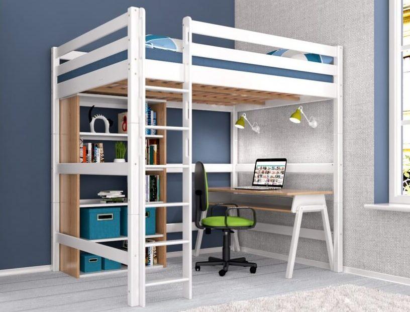 кровать чердак с рабочей зоной дизайн
