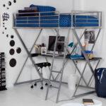 кровать чердак с рабочей зоной фото оформление