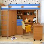 кровать чердак с рабочим столом обзор