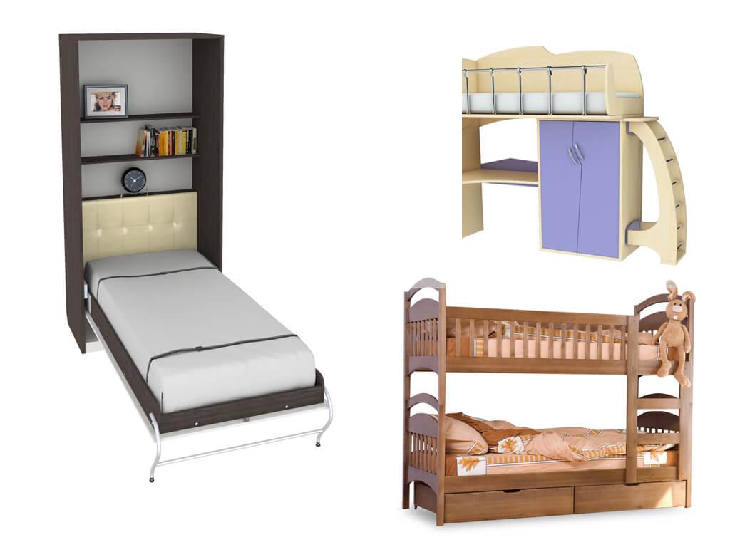 разнообразие кроватей-трансформеров