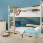 кровать двухъярусная белая