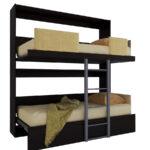 кровать двухъярусная трансформер черная