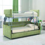 кровать двухъярусная трансформер зеленая