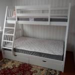 кровать двухъярусная трансформер белая