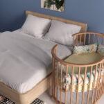 круглая кроватка трансформер для новорожденного декор фото