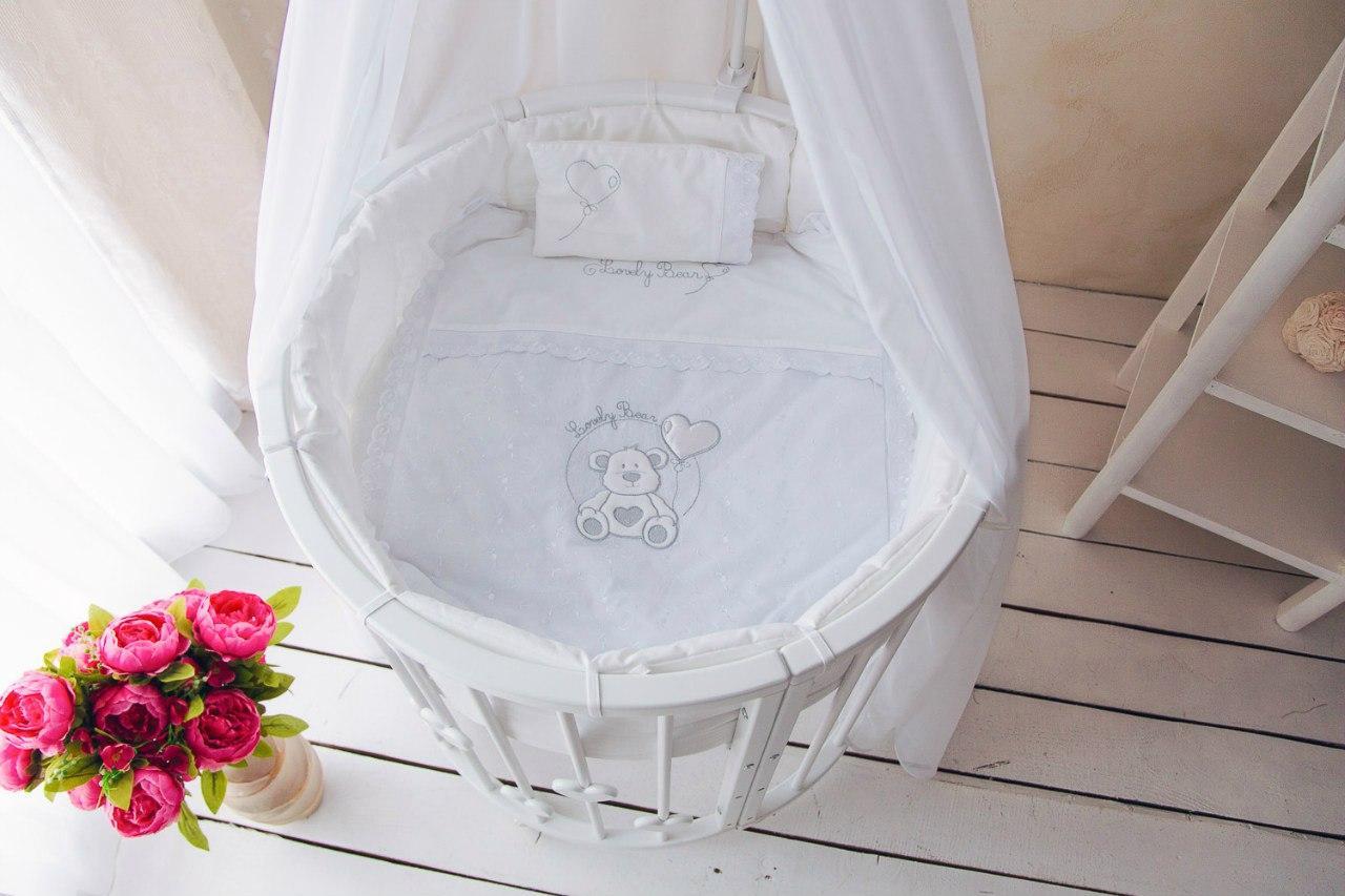 круглая кроватка трансформер для новорожденного дизайн фото