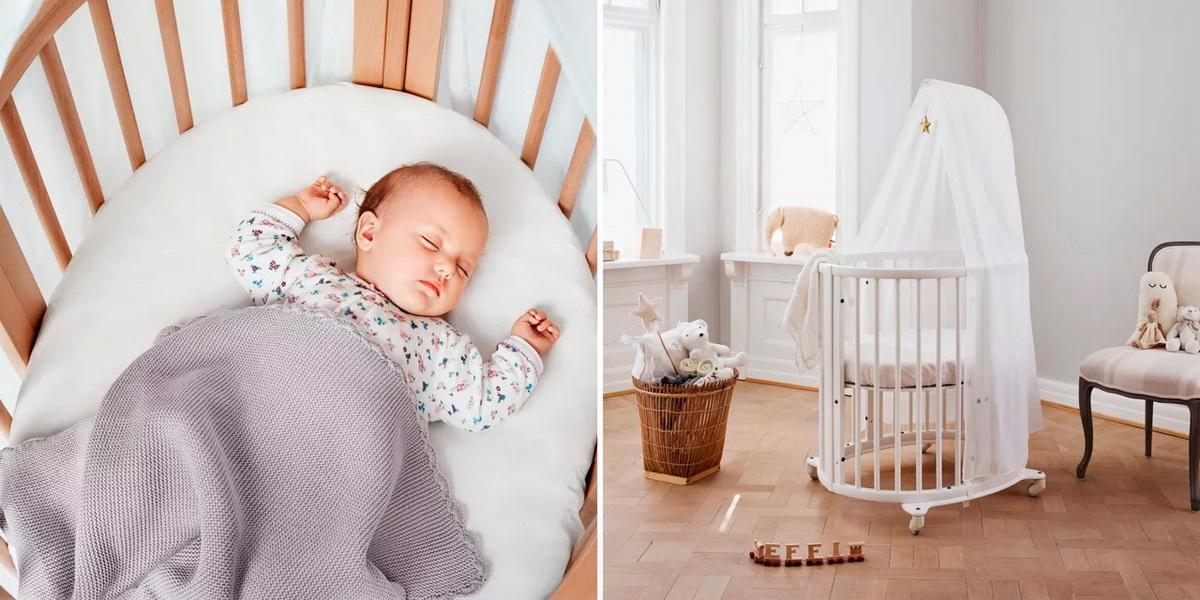 круглая кроватка трансформер для новорожденного фото дизайн