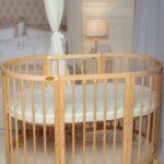 круглая кроватка трансформер для новорожденного фото виды