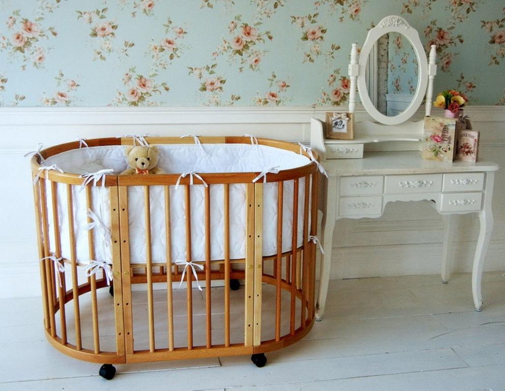 круглая кроватка трансформер для новорожденного идеи дизайн
