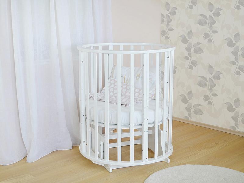 круглая кроватка трансформер для новорожденного идеи дизайна