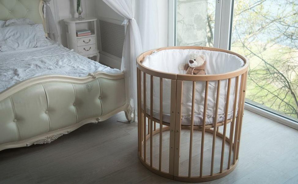 круглая кроватка трансформер для новорожденного идеи фото