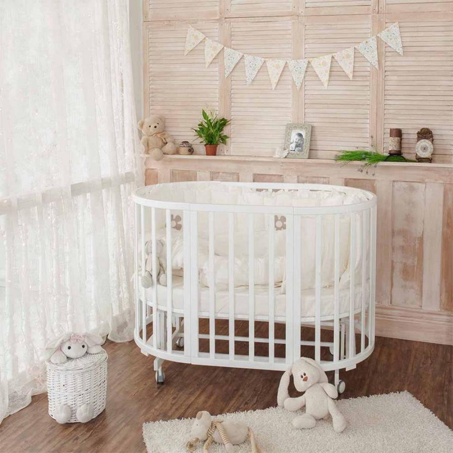 круглая кроватка трансформер для новорожденного идеи