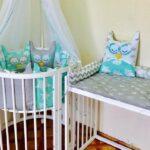 круглая кроватка трансформер для новорожденного оформление фото