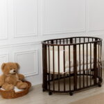 круглая кроватка трансформер для новорожденного виды