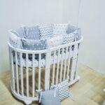 круглая кроватка трансформер для новорожденного виды фото