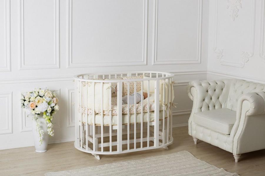 круглая кроватка трансформер для новорожденного