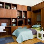 откидная кровать в шкафу фото интерьер