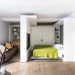 откидная кровать в шкафу фото оформления