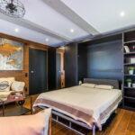 откидная кровать в шкафу дизайн