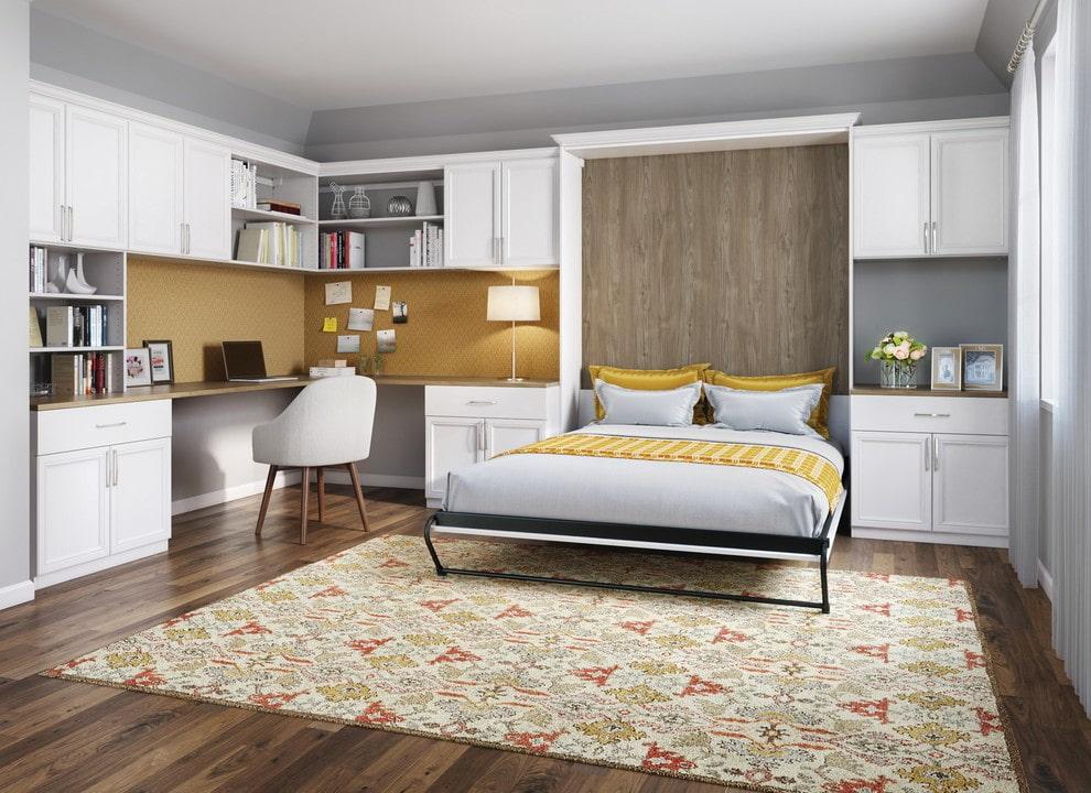 откидная кровать встроенная в шкаф дизайн идеи