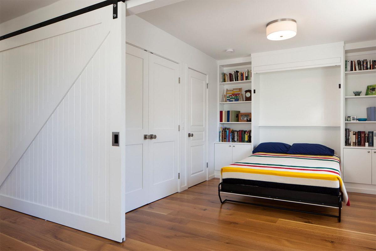 откидная кровать встроенная в шкаф фото дизайн