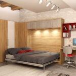 откидная кровать встроенная в шкаф фото вариантов