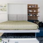 откидная кровать встроенная в шкаф фото варианты