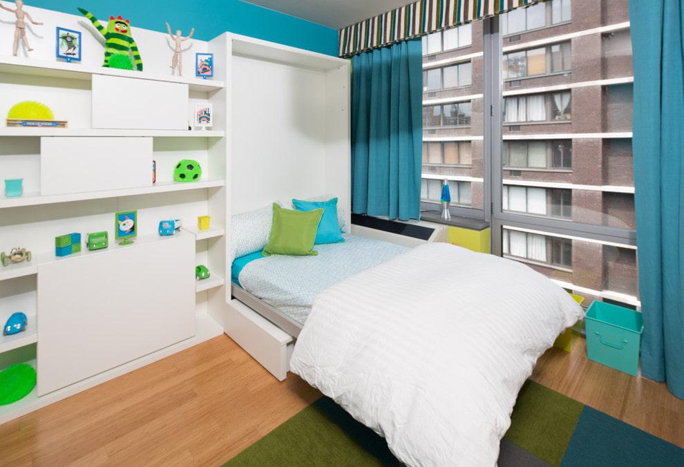 откидная кровать встроенная в шкаф идеи дизайна