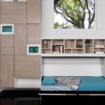откидная кровать встроенная в шкаф идеи оформления