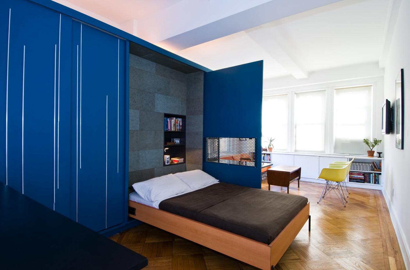 откидная кровать встроенная в шкаф идеи