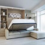 откидная кровать встроенная в шкаф варианты