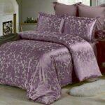 сиренево-фиолетовое сатиновое постельное белье