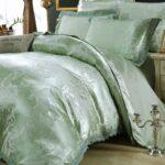 оливковое сатиновое постельное белье