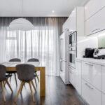 шторы для кухни интерьер фото