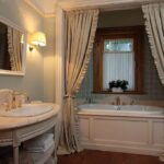 шторы для ванной комнаты фото интерьера