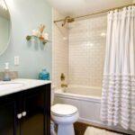 шторы для ванной комнаты идеи виды