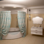 шторы для ванной комнаты идеи