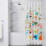 шторы для ванной комнаты интерьер фото