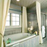 шторы для ванной комнаты фото интерьер