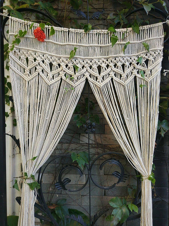 шторы макраме фото декора