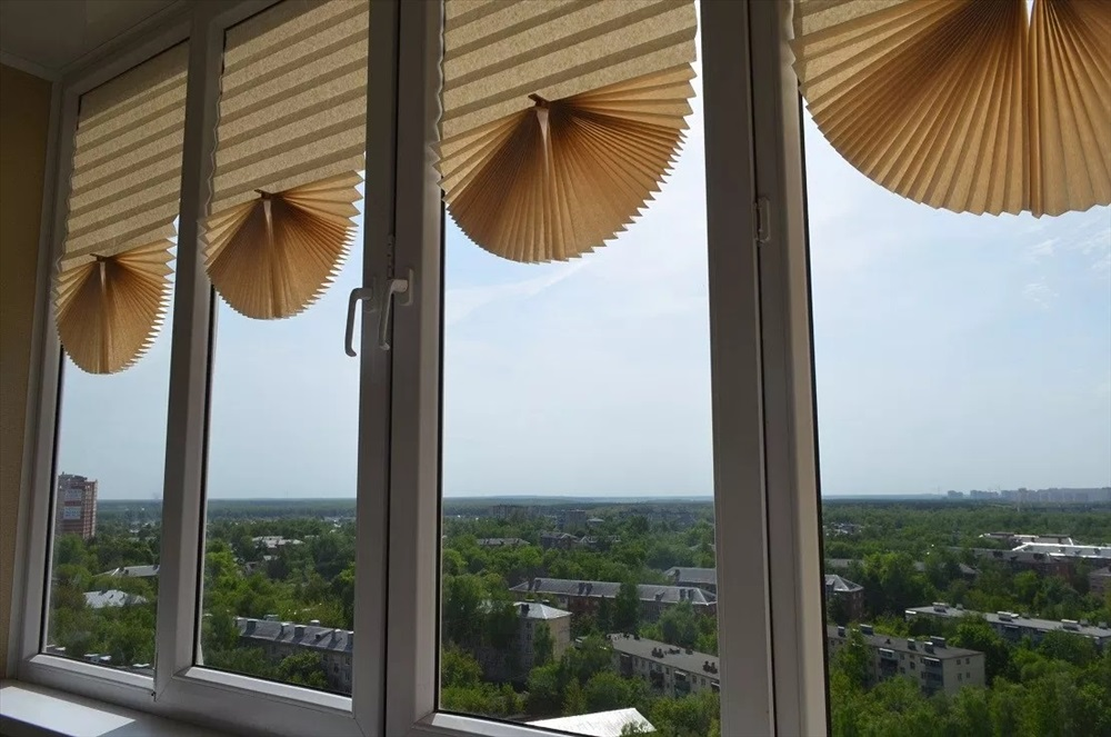 шторы плиссе декор