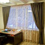 шторы в кабинет оформление фото