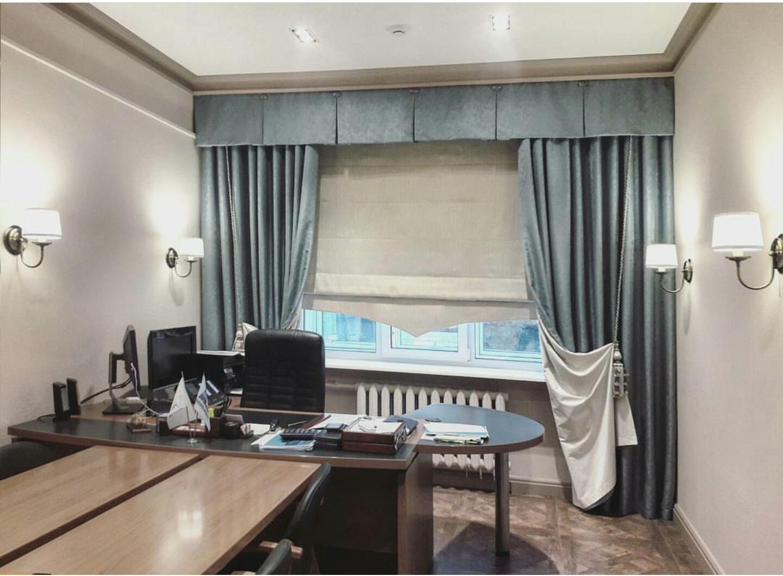 шторы в офис дизайн интерьера