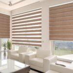 современные рулонные шторы фото интерьера