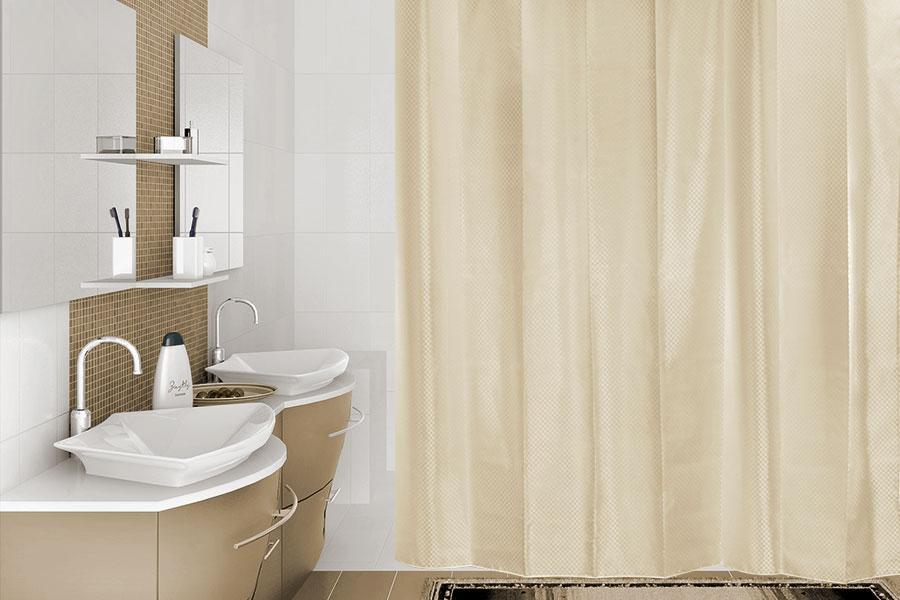 тканевая штора для ванной декор
