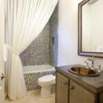 тканевая штора для ванной фото декора