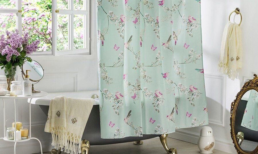 тканевая штора для ванной фото дизайн
