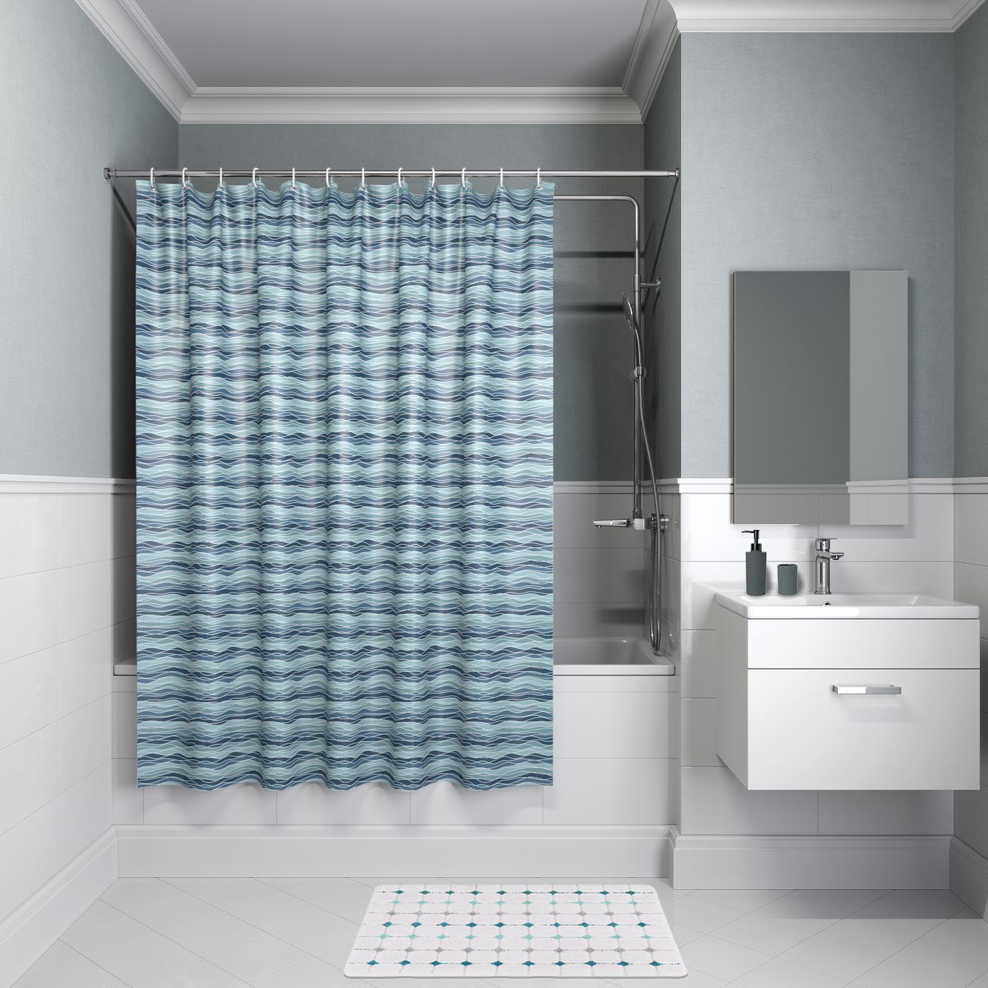 тканевая штора для ванной фото идеи